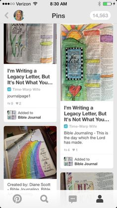 Rachel Wojo's Bible Journaling Pinterest Board