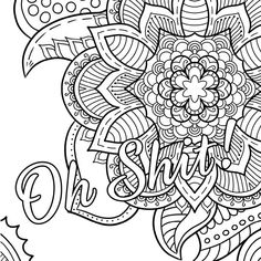 Oh Shit! - Free Coloring Page - Swear Word Coloring Book - Thiago Ultra