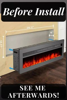 Awe Inspiring 32 Best Electric Fireplace Wall Images In 2019 Electric Download Free Architecture Designs Intelgarnamadebymaigaardcom