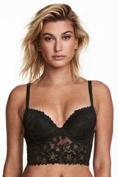 811231a397 Push-up lace and mesh bralette with underwired