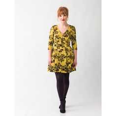 Frill Seeker V-Neck Dress in Mustard + Floral by Smak Parlour 33ec855aa