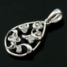 Hot Sale Fashion Korean 100% 925 Sterling Silver Jewelry Flower Pendant