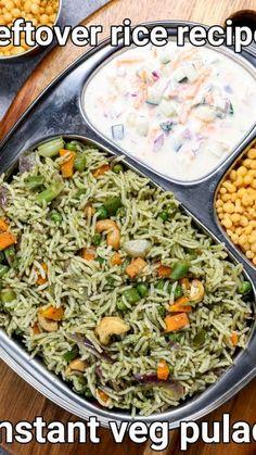 Spicy Chicken Recipes, Easy Rice Recipes, Tasty Vegetarian Recipes, Curry Recipes, Leftover Rice Recipes, Veg Pulao Recipe, Paratha Recipes, Indian Food Recipes, Cooking Recipes