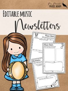 Looking for a way to communicate with parents what's happening in your music classroom? This set includes lots of editable newsletters that are easy to use!