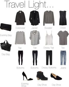 travel light packing list for women's capsule wardrobe tra., travel light packing list for women's capsule wardrobe travel light packing list for women's capsule wardrobe. Looks Style, Style Me, Simple Style, Trendy Style, Look Fashion, Womens Fashion, Fashion Tips, Travel Fashion, Cheap Fashion