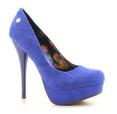 Blink blauwe hoge hakken pumps
