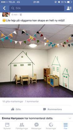 Tejp på väggen Preschool Classroom, Preschool Learning, Kindergarten, Preschool Centers, Learning Centers, Class Displays, Daycare Crafts, Classroom Setting, Classroom Inspiration