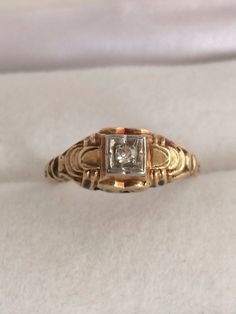 Art Deco Antique Old European Cut Diamond by HauteCoutureLaLa, $195.00