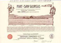 FIAT-San Giorgio S.A. per Costruzioni Navali e Meccaniche Torpediniere - Sommergibili Azione 25 x 100 Lire 28.3.1917 (R 8).