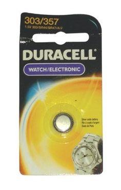 Duracell - Duracell Watch/Electronic Batteries 1.5 Volt Silver Oxide Watch Battery: 243-D303/357Pk - 1.5 volt silver oxide watch battery (Set of 6)