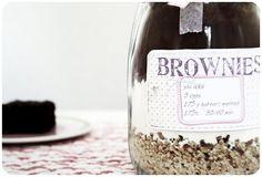Mitbringsel-Backmischung für Brownies im Glas *