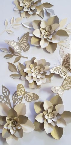 SALE Paper Flower Decorations 7 Table Decor PDF Digital