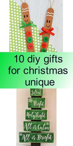 10 diy gifts for christmas unique - Silent Night, Diy Tutorial, Diy Gifts, Christmas Gifts, Craft Ideas, Holiday Decor, Unique, Crafts, Holiday Gifts