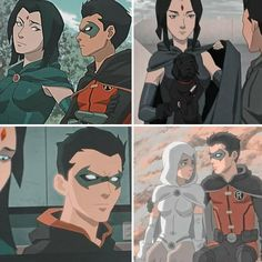 Damian Wayne, Dc Comics, Robin And Raven, Raven Beast Boy, Bbrae, Bat Family, Teen Titans, Dc Universe, Sd