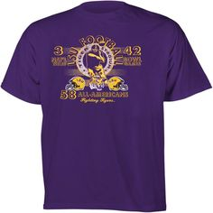 LSU Tigers Football Diode Retro Graphic Stat T-Shirt
