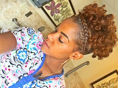 Natural hair high puff style perfect for those with short hair. This amazing Style was done on beautiful honey blonde by dark and lovely. Check out tutorial
