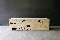 60 x 20 x17H - weathered rustic teak table