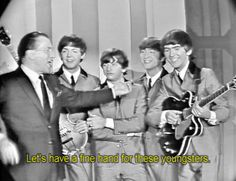 Ed Sullivan introduces the Beatles to America. Rock and Roll has never been the same.❤️