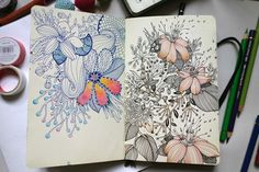 Sketchbook pages on Behance