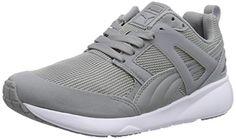 Puma Arial, Unisex-Erwachsene Sneakers, Grau (limestone gray-dark shadow 01), 38.5 EU (5.5 Erwachsene UK) - http://on-line-kaufen.de/puma/38-5-eu-puma-arial-evolution-damen-sneaker-weiss-42