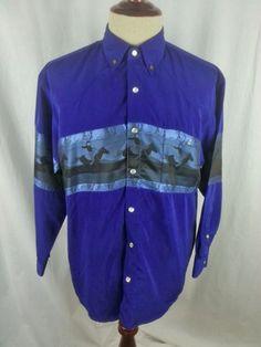 SAXIFON Mens Pearl Snap Dress Shirt SMALL Western Cowboy Micro Fibre made in USA #Saxifon
