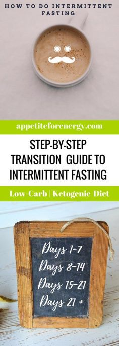 Follow our step-by-step adaptation guide to intermittent fasting. Transition smoothly over 3 weeks with our recommended tips and tricks. Low-carb diet   ketogenic diet intermittent fasting  keto diet weight loss   weight loss stall or plateau  kick start weight loss  bulletproof coffee  bulletproof intermittent fasting MCT oil  how to use MCT oil   Atkins diet