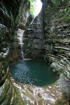 Natural pool Papigko, Greece