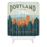 Found it at AllModern - Anderson Design Group Woven Polyester Portland Shower Curtain