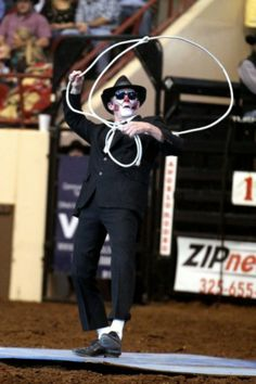 Paxton Mateo performs roping tricks at the 82nd annual San Angelo Stock Show and Rodeo at the Foster Communication Coliseum Saturday evening.