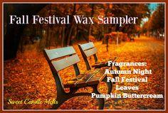 Candle Sampler Wax Melts Sampler Fall Wax by sweetcandlemelts