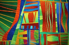"""Life in the City"" (detail) by Sheila Frampton-Cooper  Online Extras Slideshow - Quilting Daily"