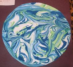 Space Theme: Shaving Cream Marbleized Earth (or change colors for other planets) ... Cub Scouts in Space Day Camp activity. The Cub Scouts LOVED this activity last year. @liebenwood