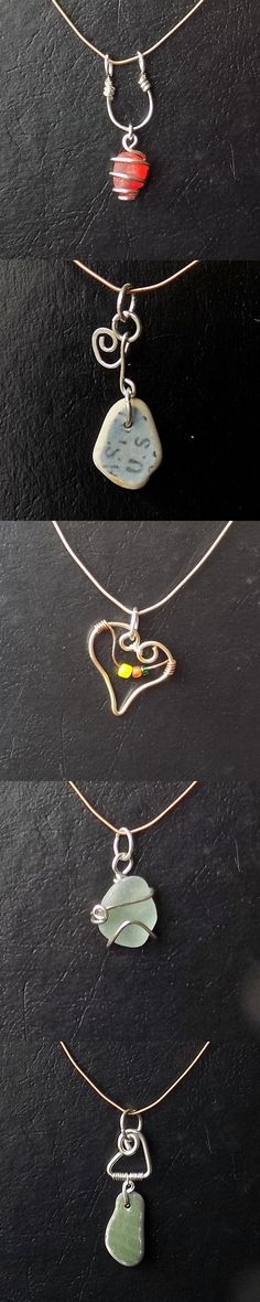 Many new listings today - sea glass and beach pottery jewelry :)