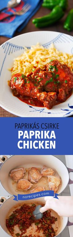 With just a handful of ingredients, Chicken Paprikash (Paprikás Csirke) is an easy comforting Hungarian stew that's loaded with tender chicken and fragrant paprika. #stew #chickenrecipes #comfortfood #hungarianrecipes