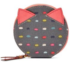 Fossil Keely Multicolor Dot Round Zip Coin Purse
