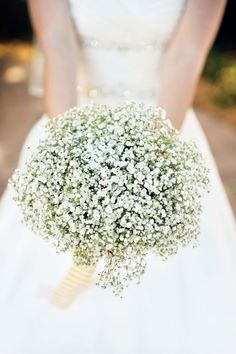 Babys Breathe bouquet! This would be so pretty for a winter wedding!