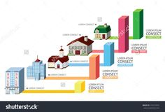 Building With Chart Stock Vector Illustration 155210354 : Shutterstock