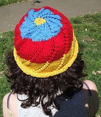 Sunburst Mandala Hat | AllFreeKnitting.com