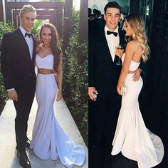 $135.99 White Sweetheart Natural Mermaid Two Pieces Prom Dresses 2017products_id:(1000075483 or 1000075309 or 1000075170 or 1000074421 or 1000073444)
