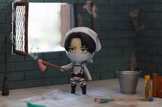 Nendoroid Levi Cleaning Version