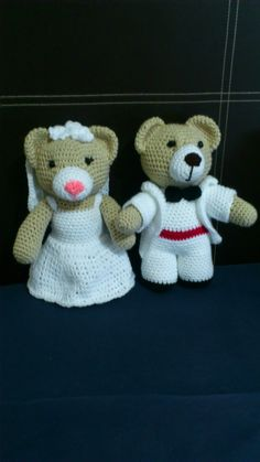 Amigurumi Wedding Bears - FREE Crochet Pattern / Tutorial