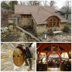 The Hobbit House  -  Architect Peter Archer built this Middle Earth inspired house in a backyard belonging to a hardcore fan of author J.R.R. Tolkien.