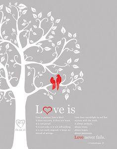 1 corinthians 13 Love is patient Personalized by fancyprints, $26.00