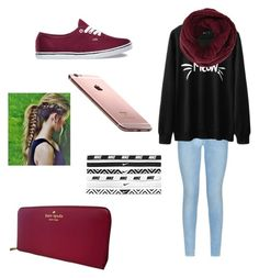 """:)"" by ajlamastra on Polyvore featuring 7 For All Mankind, Vans, BCBGMAXAZRIA, Kate Spade and NIKE"