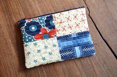 Bolso de mano acolchado / Bolsa de patchwork para por 464Handmade, $25.00