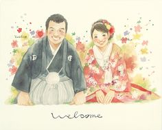和服ウェルカムボード / Welcome board