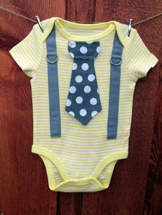 NEW  Baby Boy Tie Onesie and Suspender Bodysuit  by shopantsypants, $19.00