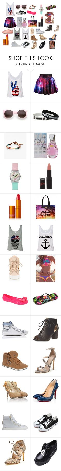 Lucy Luco -Summer style girl by exkniha on Polyvore featuring Giuseppe Zanotti, Christian Louboutin, Diesel, Dorothy Perkins, Gandys, Pilot, Elizabeth Koh, Lipstick Queen, Rimmel and GUESS