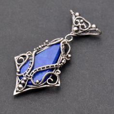 Morwen - Fantasy Wire-wrapped Lapis Lazuli Pendant by Eire-handmade.deviantart.com on @DeviantArt