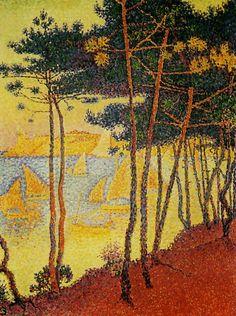 Signac Paul, Le Bois de pins 1896